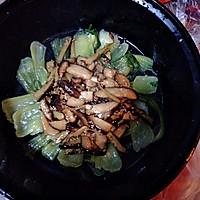 油菜香菇的做法图解3