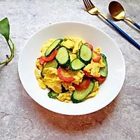 红萝卜黄瓜炒鸡蛋#花10分钟,做一道菜!#的做法图解14