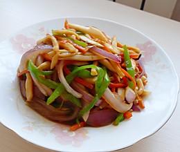 快手营养素菜~杏鲍菇炒三丝的做法