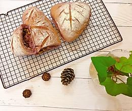 紫薯豆沙肉松麻薯软欧包的做法