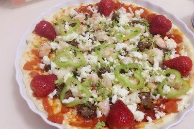 披薩(牛肉鮮海蝦)