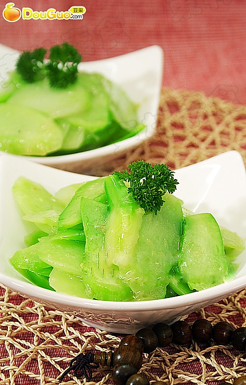 瘦身健美爽口菜:姜汁芥蓝片的做法