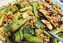 豆角焖饭的做法
