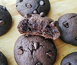 #憋在家里吃什么#巧克力软曲奇的做法