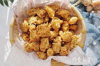 炸白萝卜素丸子❤️(北方冬季特色小吃)