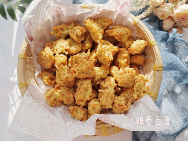 炸白萝卜素丸子❤️(北方冬季特色小吃)的做法
