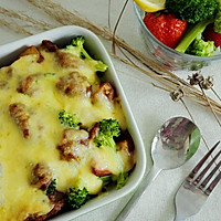时蔬鸡肉咖喱焗饭(自制咖喱酱)#宜家让家更有味#的做法图解17