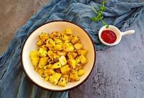 芝麻鸡蛋香炒馒头丁的做法