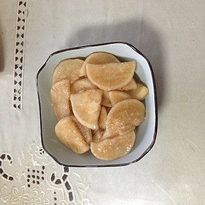 泡白萝卜(超简单的泡菜法)