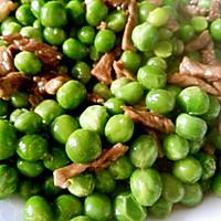 豌豆炒肉丝的做法图解4
