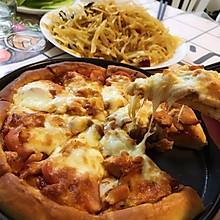 蒸地瓜牛奶馒头剩的面做个披萨还怪好吃呢