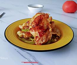 酸甜酒酱粉煎鸡的做法