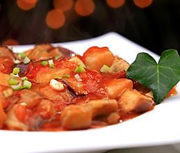 家常西红柿烧茄子的做法