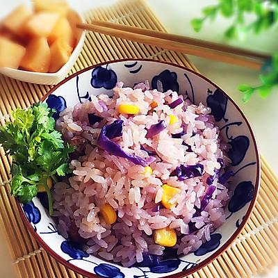 紫甘蓝焖饭