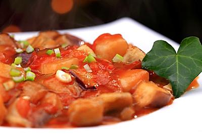 家常西红柿烧茄子