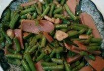 豆角炒肉(火腿)的做法