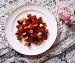 #人人能开小吃店#蚝油黑胡椒牛肉粒的做法