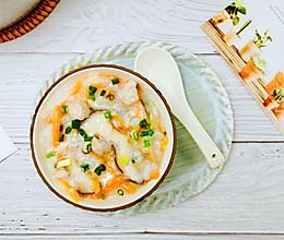 #福气年夜菜#鲜甜营养好喝瘦肉香菇胡萝卜粥的做法