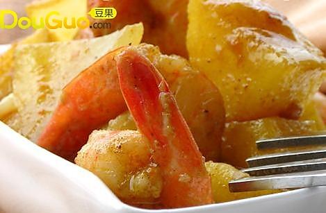苹果咖喱虾的做法