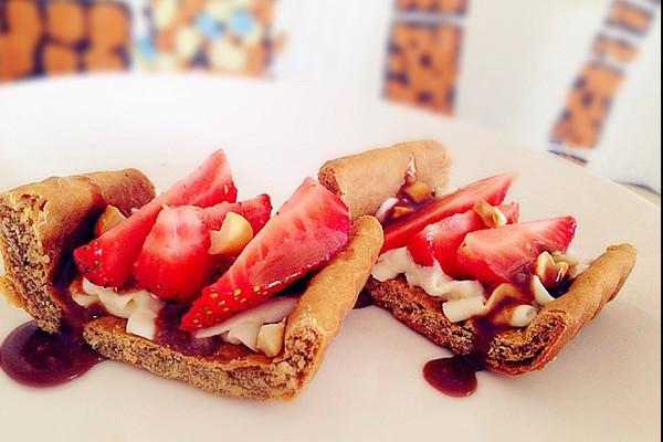 草莓腰果脆皮塔的做法