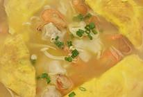 河虾什锦汤配小馄饨的做法