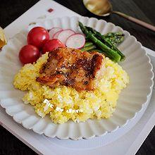 蜜汁鸡扒小米饭