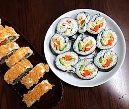 两款简单黄瓜海苔寿司卷的做法