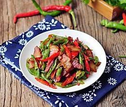 秦椒炒腊肉的做法