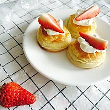 千层酥皮草莓小点#我的烘焙不将就#