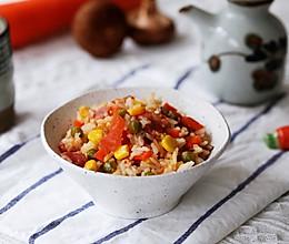 #换着花样吃早餐#一个番茄饭的做法