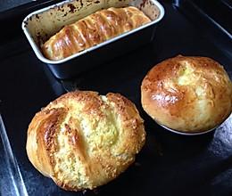 中筋面粉也能成!椰香面包(三款包法介绍)的做法