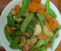 荷兰豆炒杏鲍菇的做法