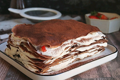 冬日的冰爽甜蜜~奥利奥草莓千层蛋糕