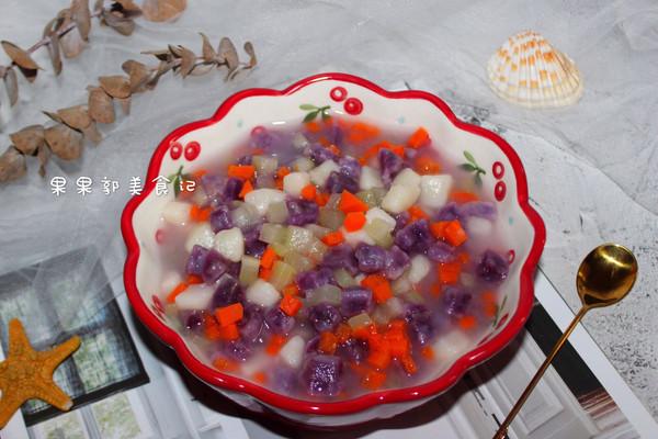 #秋天怎么吃#彩色疙瘩汤的做法
