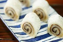 糯米豆沙卷【微体兔菜谱】的做法