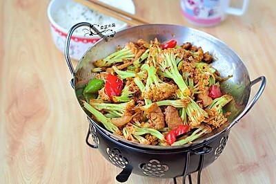干锅有机菜花#我要上首页下饭家常菜#