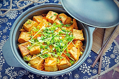腐竹豆腐煲#金龙鱼外婆乡小榨菜籽油#