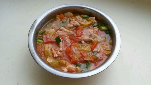 番茄肉片汤的做法