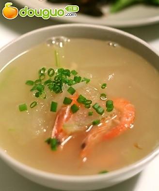 冬瓜鲜虾汤的做法