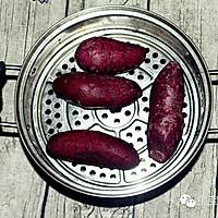 紫薯芝麻小饼 | 软糯清甜,无论大人还是孩子都适合!的做法图解2