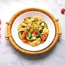 #助力高考营养餐#西红柿黄瓜炒鸡蛋