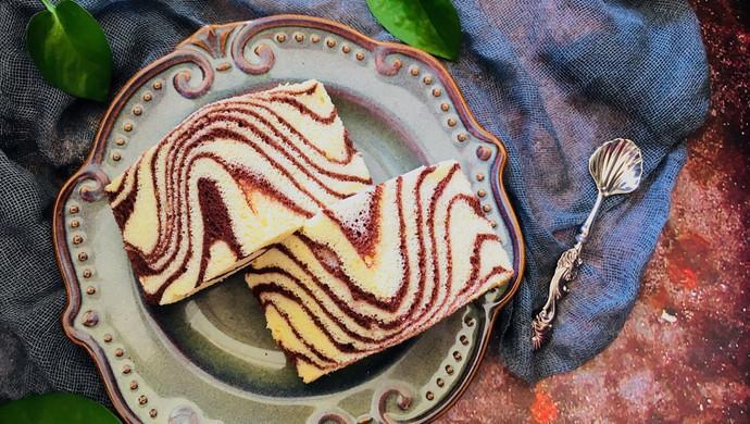 可可波纹戚风蛋糕