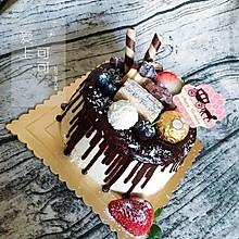 巧克力淋面蛋糕#松下烘焙盛宴#