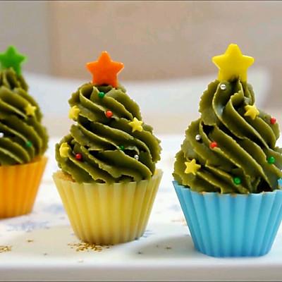 杯子蛋糕 圣诞树蛋糕杯 下午茶点