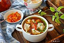番茄汤开胃虾仁馄饨的做法