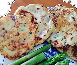 鸡胸肉杂蔬豆腐饼的做法