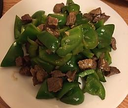 青椒炒牛肉 (又是一道留学生必备的简单炒菜)的做法