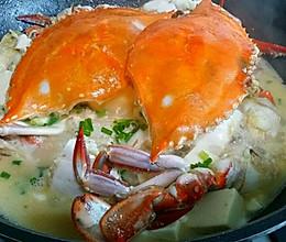 螃蟹豆腐煲的做法