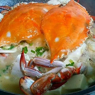 螃蟹豆腐煲