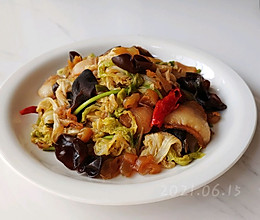 肉香海蜇焖白菜的做法